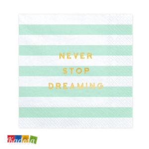 Tovaglioli FLOWER PARTY Tiffany Never Stop Dreaming Oro - Kadosa