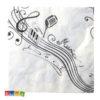 Tovaglioli MUSIC PARTY Bianchi Tema Musicale 20 pz - Kadosa