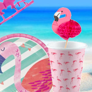 Set 30 Pink Flamingo