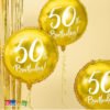 Palloncino 50 Anni Foil ORO 45 cm con Stampa Bianca - Kadosa