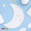 Piatti Luna Bianca con Decorazioni Oro e Rosa Set 6 pz - Kadosa