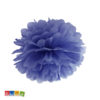 Pom Pom di Carta BLU Flower Decoration da 25 cm - Kadosa