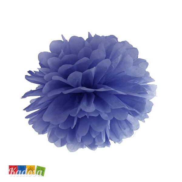 Pom Pom di Carta BLU Flower Decoration da 25 cm - Kadosa