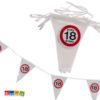 Striscione Bandierine 18 anni diciottesimo festa compleanno happy birthday segnale stradale cartello decorazioni allestimento accessori ghirlanda banner - Kadosa 145182