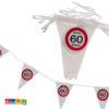 Striscione Bandierine 60 anni festa compleanno happy birthday segnale stradale cartello decorazioni allestimento accessori ghirlanda banner - Kadosa 145182
