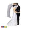 Wedding Cake Topper Sposi con Libro Album Foto Volti Coperti Statuine Nozze Torta Nuziale Decorazione Matrimonio - Kadosa