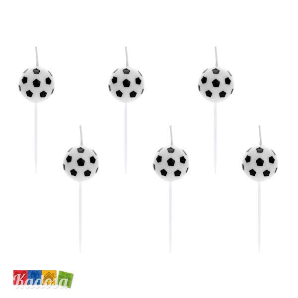 Candeline Calcio a Forma di Pallone da Calcio Set 6 pz - Kadosa