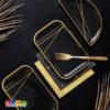 Piatti rettangolari nero e oro capodanno happy new year nuovo anno festa party a tema allestimento tavolata accessori TPP67-010-019ME 1 - Kadosa