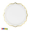 Piatto di carta Bianco bordo Oro Elegante - TPP30-008 1