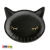 Piatti Gatto Nero Halloween festa allestimento tavolata party BLACK cat TPP60 0 - Kadosa