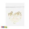 Sacchetti di Carta MR & MRS Bianchi con Decorazioni Oro 6 pz - Kadosa