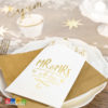 Sacchetti Mr e Mrs with Love confetti wedding day sposi matrimonio Sacchetti di Carta MR & MRS Bianchi con Decorazioni Oro 6 pz - Kadosa TNSP8-019M