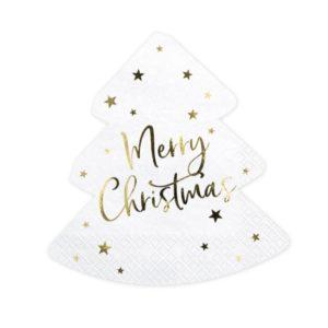 Tovaglioli Merry Xmas Natale Buon Babbo Festa decorazione decorare tavolata casa famiglia christmas noel albero regali SPK8_01_S - Kadosa