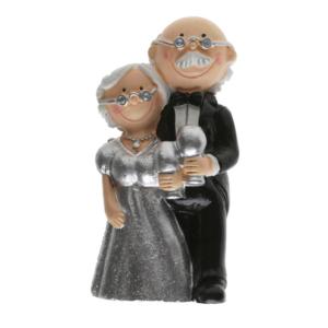 Cake Topper argento Nozze d'argento 25 anni matrimonio statuina 5421