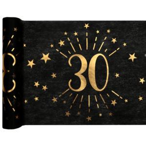 Runner Tovaglia Luci ed Oro 30 anni Happy Birthday dorati stelle party festa di compleanno da tema 6789