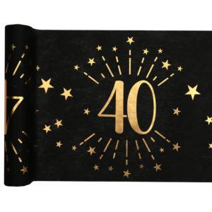 Runner Tovaglia Luci ed Oro 40 anni Happy Birthday dorati stelle party festa di compleanno da tema 6789