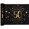 Runner Tovaglia Luci ed Oro 50 anni Happy Birthday dorati stelle party festa di compleanno da tema 6789