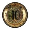 iatti Luci ed Oro 40 anni Happy Birthday dorati stelle party festa di compleanno da tema 6789
