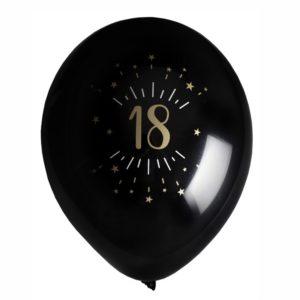 8 Palloncini luci ed oro 18 anni festa party compleanno lattice biodegradabile allestimento diciottesimo 7355