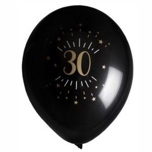 8 Palloncini luci ed oro 30 anni festa party compleanno lattice biodegradabile allestimento 7355