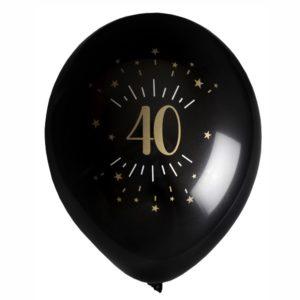 8 Palloncini luci ed oro 40 anni festa party compleanno lattice biodegradabile allestimento 7355