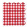 Tovaglioli Pic Nic quadretti rossi party festa pasqua san valentino coppia pranzo cena compleanno