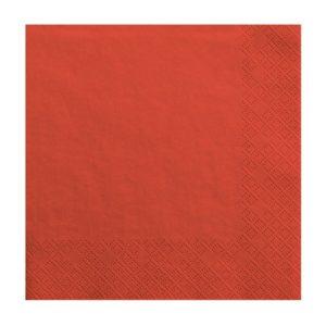 Tovaglioli carta ROSSI party compleanno baby pink 3 veli usa e getta SP33-1-007 Kadosa