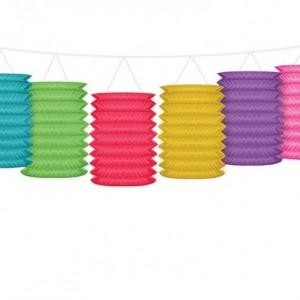 Ghirlanda Lanterne colorate, lanterne carta, paper lantern, lanterne colorate, party lantern